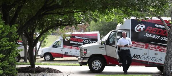 Reddi Plumbing Tech with Reddi Rootr Truck